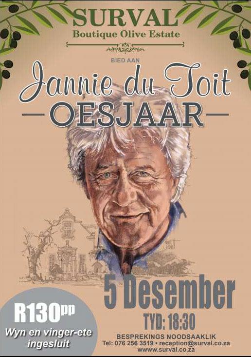 Jannie du Toit - Oesjaar | Surval 5 Desember