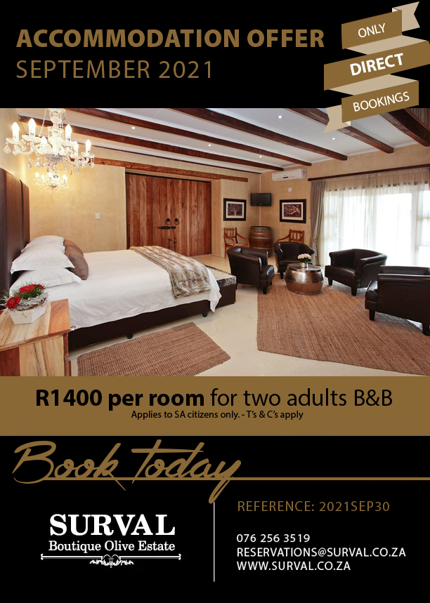 Accommodation Special September 2021